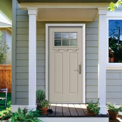 JELD-WEN 36 in. x 80 in. Craftsman Primed Right-Hand Inswing 6 ...