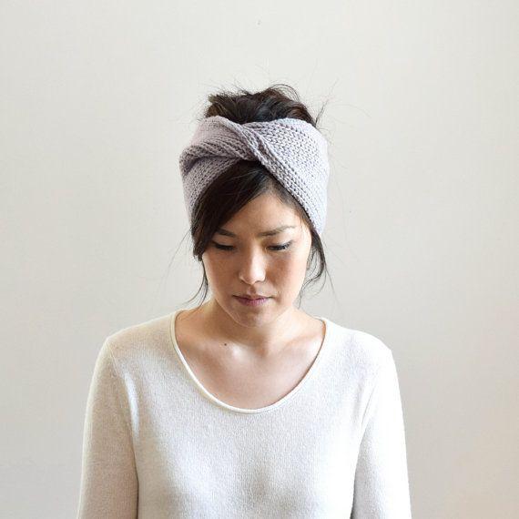 Knit Headband, Chunky Knit Turban, Ear Warmer, Winter Headband, Knit ...