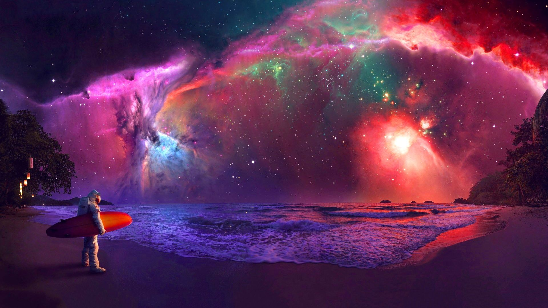 Andromeda Galaxy Astronaut Art Nebula Wallpaper Hd Galaxy Wallpaper Galaxy Wallpaper