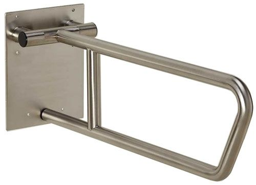 Toilet Grab Bars Safety Handrails this side-of-toilet rail is a swing up grab-bar that can be used