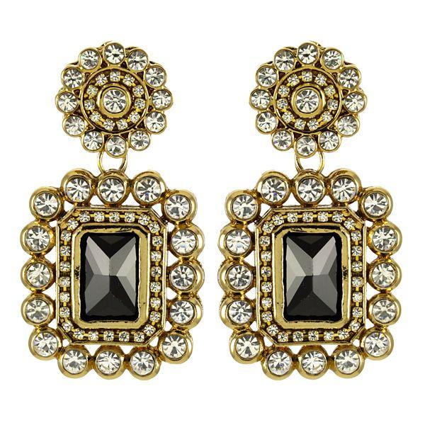 Leena Earrings in Onyx , Earrings, Shop All Jewelry
