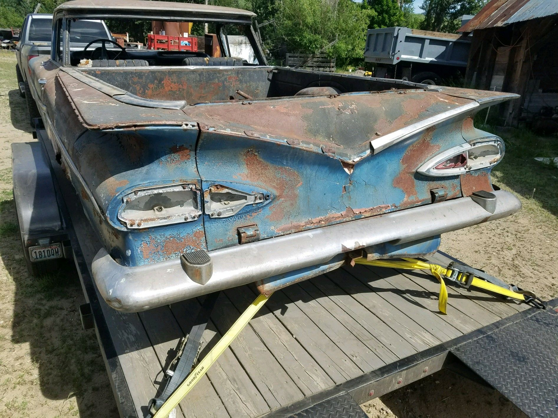 1959 El Camino parts car  Bumper steps! www the59source com
