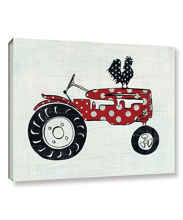 Another great find on #zulily! Modern Americana Farm V Tractor Wrapped Canvas #zulilyfinds