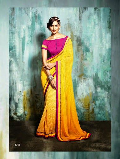 #EthnicWear #latest #georgette #sarees Shop now @ http://aapkabazar.in/clothes