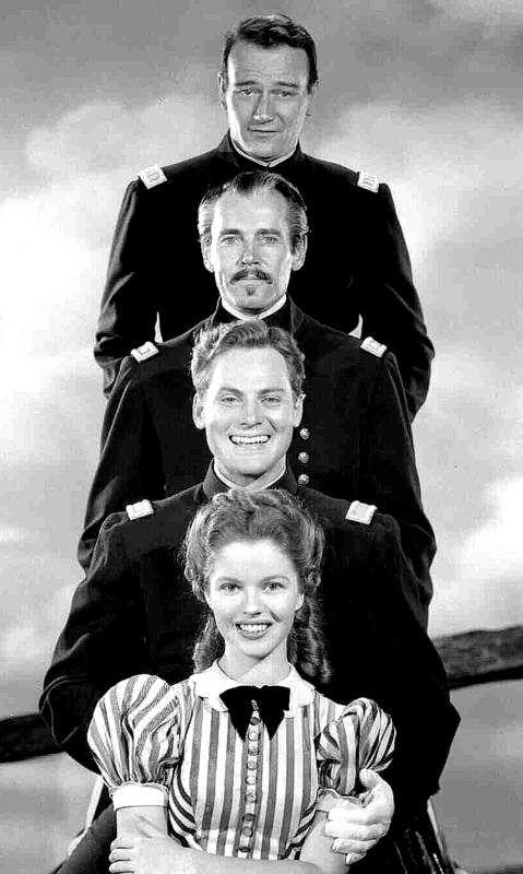 FORT APACHE (1948) - John Wayne - Henry Fonda - Shirley Temple - John Agar - Directed by John Ford - RKO-Radio Pictures