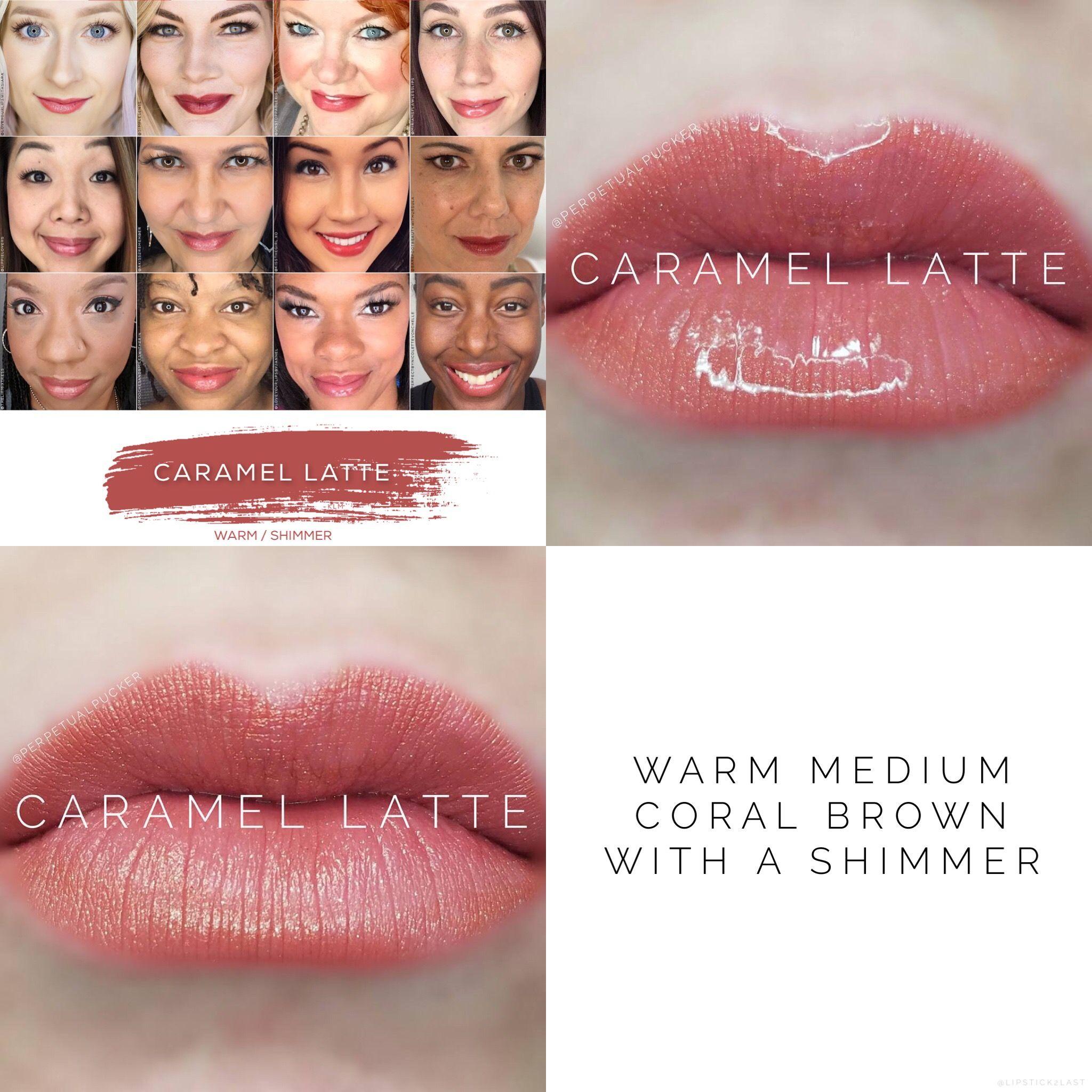 Caramel Latte LipSense Lip Color. Glossy Gloss versus Matte Gloss liquid lip color. NOT a lip stain. Long lasting lip color for 4-18+ hours of wear.