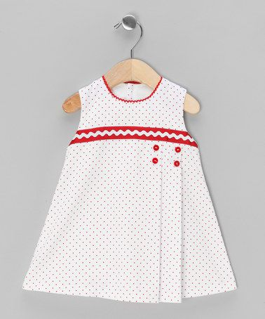 White & Red Speckles Dress - Infant & Toddler by Dinos Bebe on #zulilyUK today!