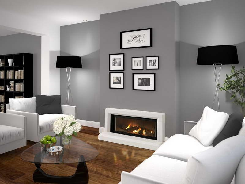 Decoration Contemporary Gas Fireplace Design With Flower