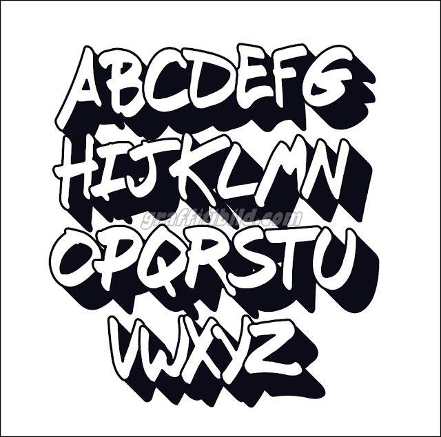 graffiti abc buchstaben vorlagen in 2020  graffiti