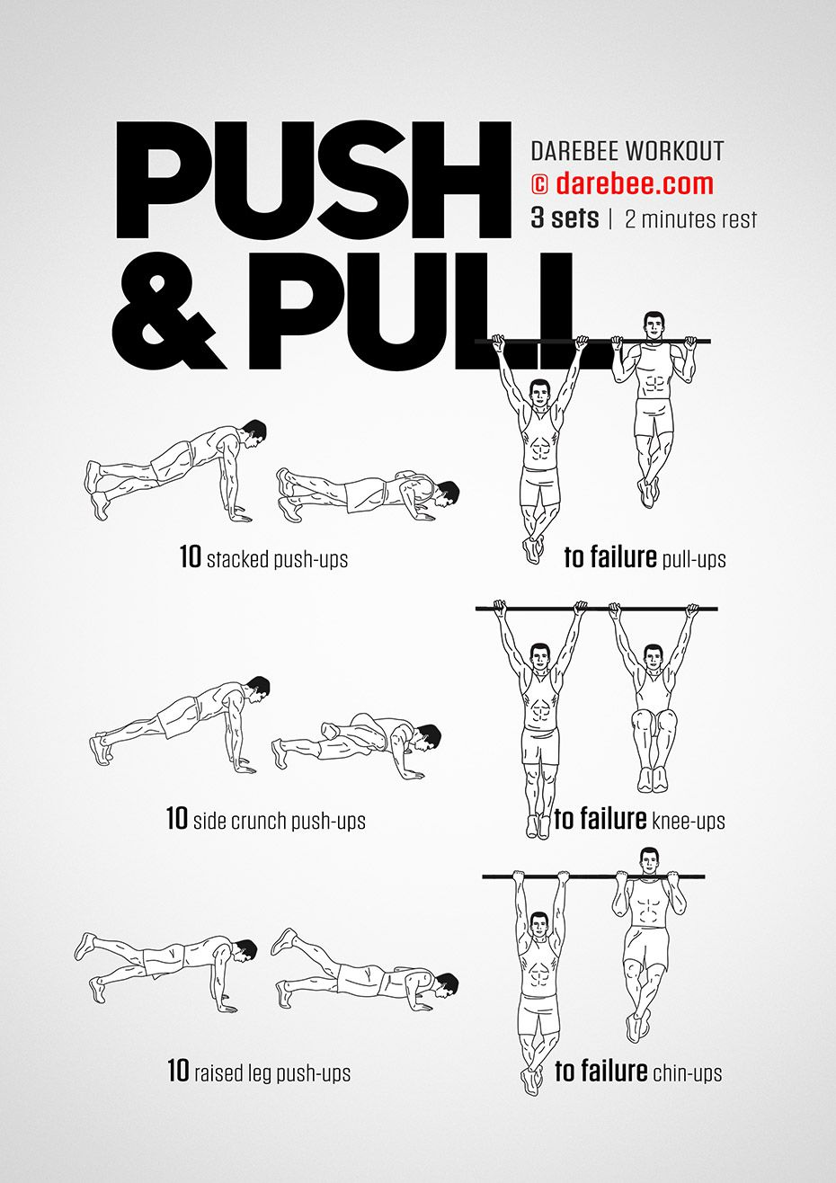 Push Amp Pull Workout Push Pull Workout Pull Up Workout Push Workout