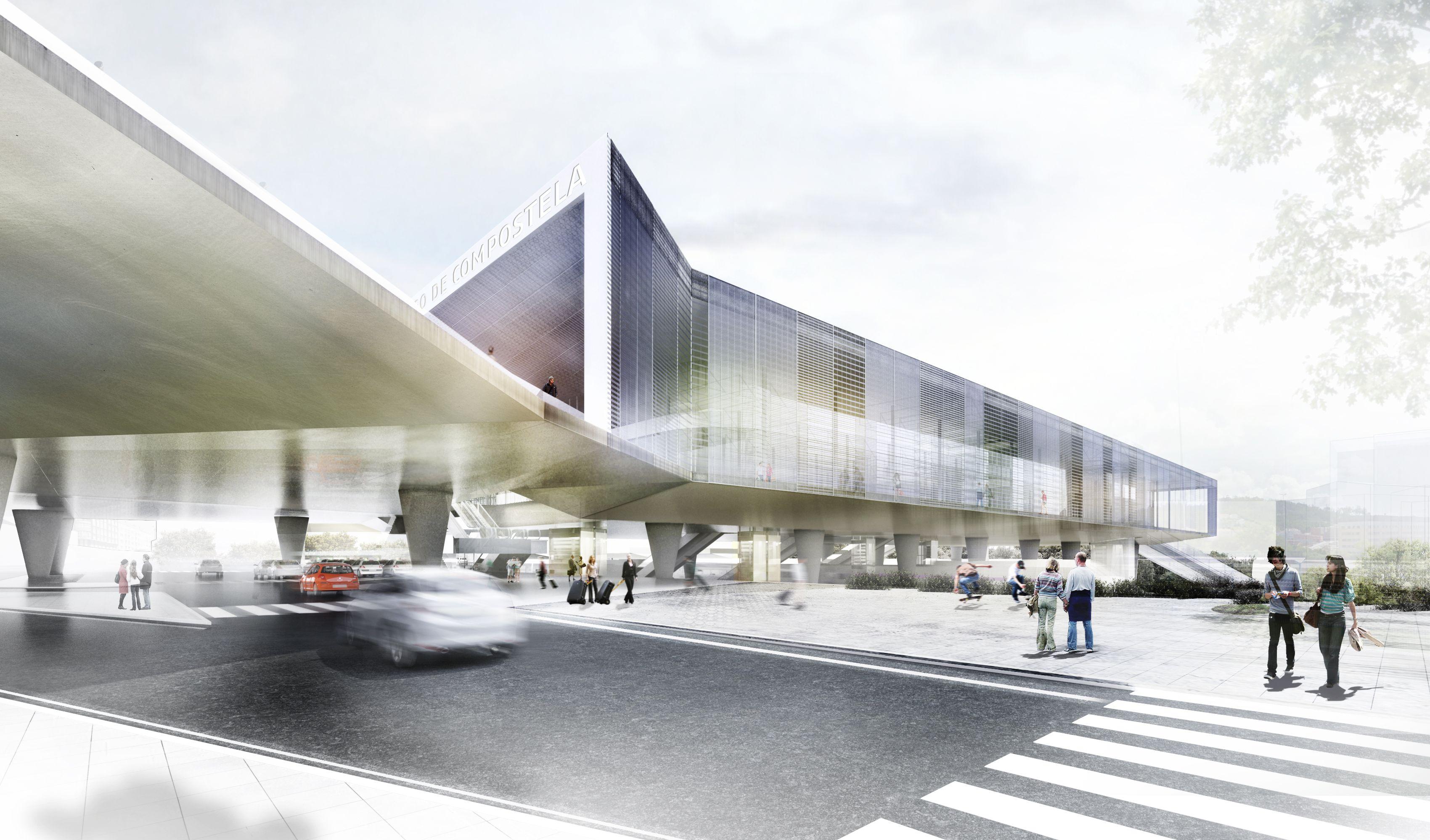 Juan herreros arquitectos ras nueva estaci n intermodal de santiago de compostela - Arquitectos santiago de compostela ...