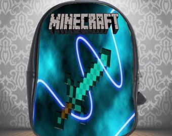 Minecraft Book Bag For School New Hot Gift Creeper Swor D Messenger Backpack
