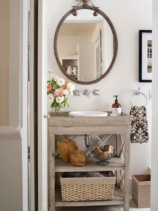 Meuble salle de bains pas cher - 30 projets DIY Sinks - petit meuble salle de bain pas cher