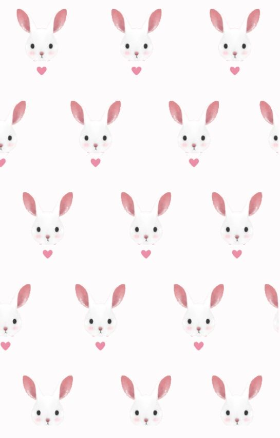 Bunny Wallpaper Cute Pattern Wallpaper Easter Wallpaper