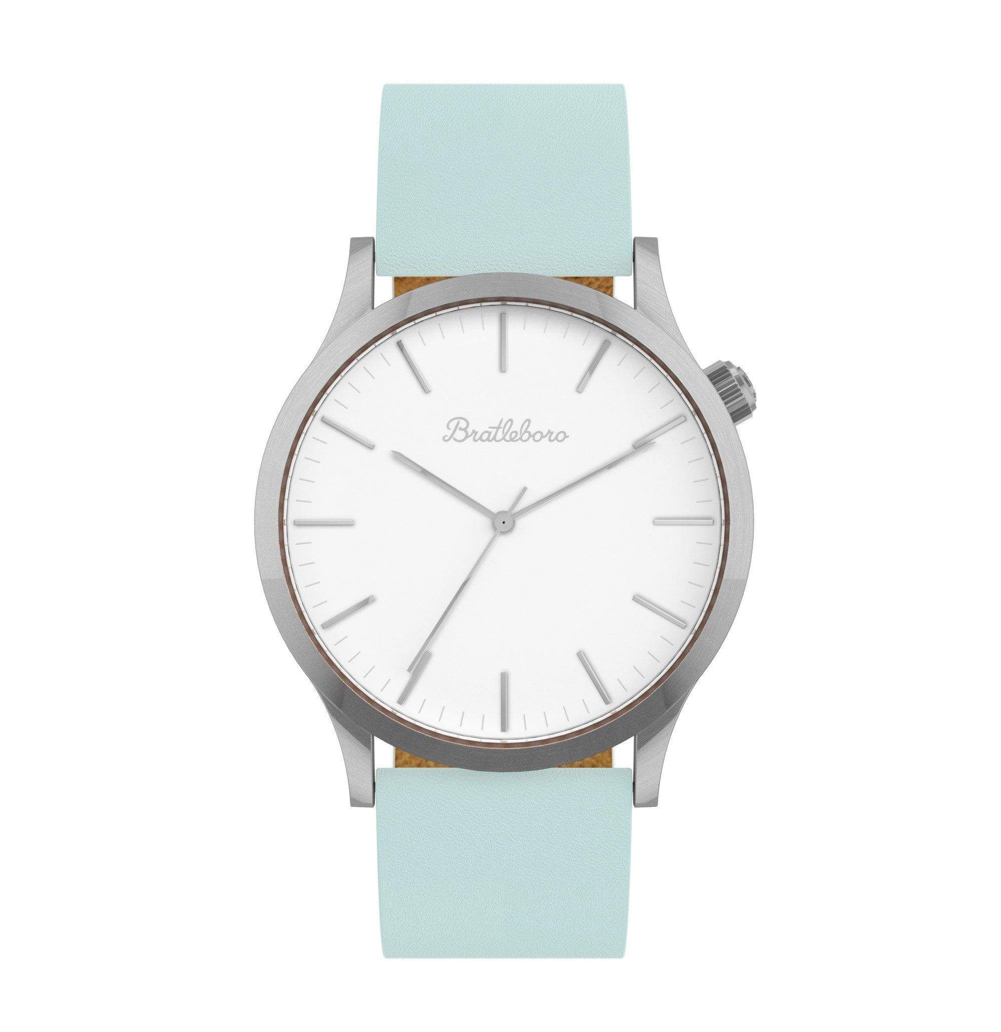 242ffb3c4151 Reloj analógico para mujer BRATLEBORO modelo AQUA GREEN con esfera blanca