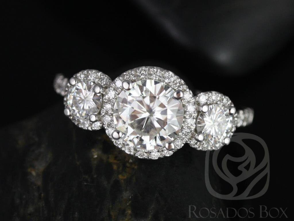 Dudee Brilliant Round Blue Natural Stone Female Women cz engagement ring