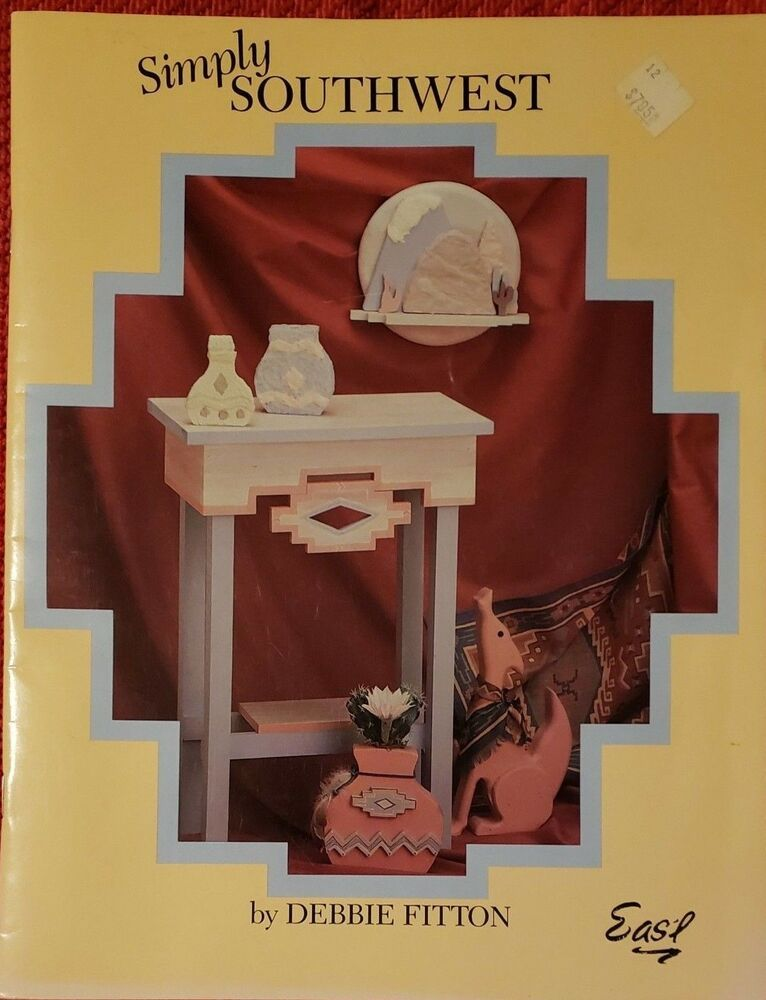 Simply Southwest Wood Crafts Book By Debbie Fitton 1990 Paperback