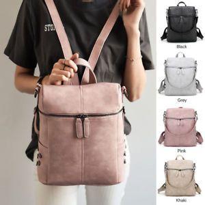 Women Backpack Rucksack Leather Shoulder Bag Satchel Travel School College  Bags 64ed440517c05