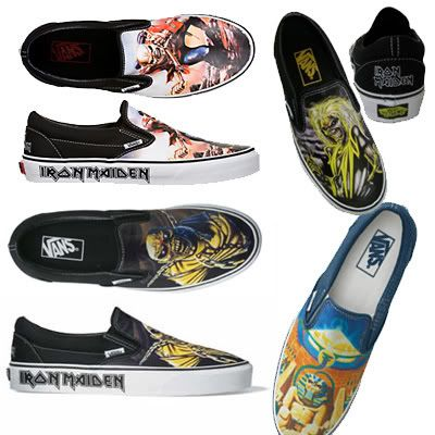 Rock your feet! | Iron maiden, Vans classic slip on sneaker