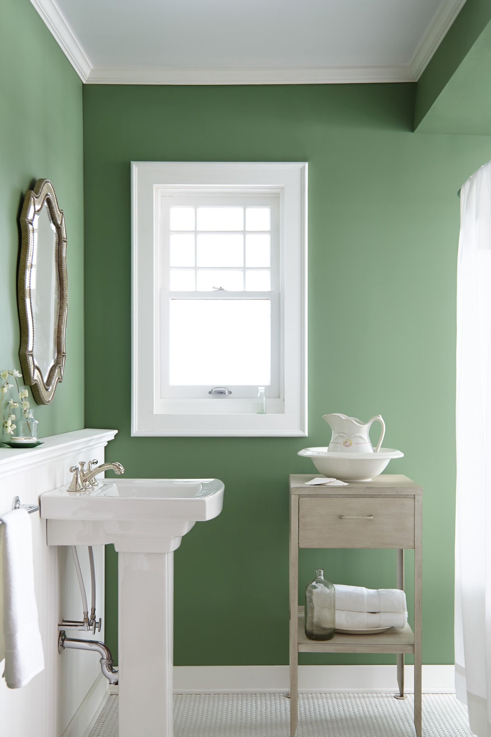 Joanna Gaines Reveals Her 5 Favorite Paint Colors Green Bathroom Paint Small Bathroom Paint Bathroom Paint Colors