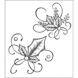 Heartfelt Creations Elegant Holly Swirls with matching die