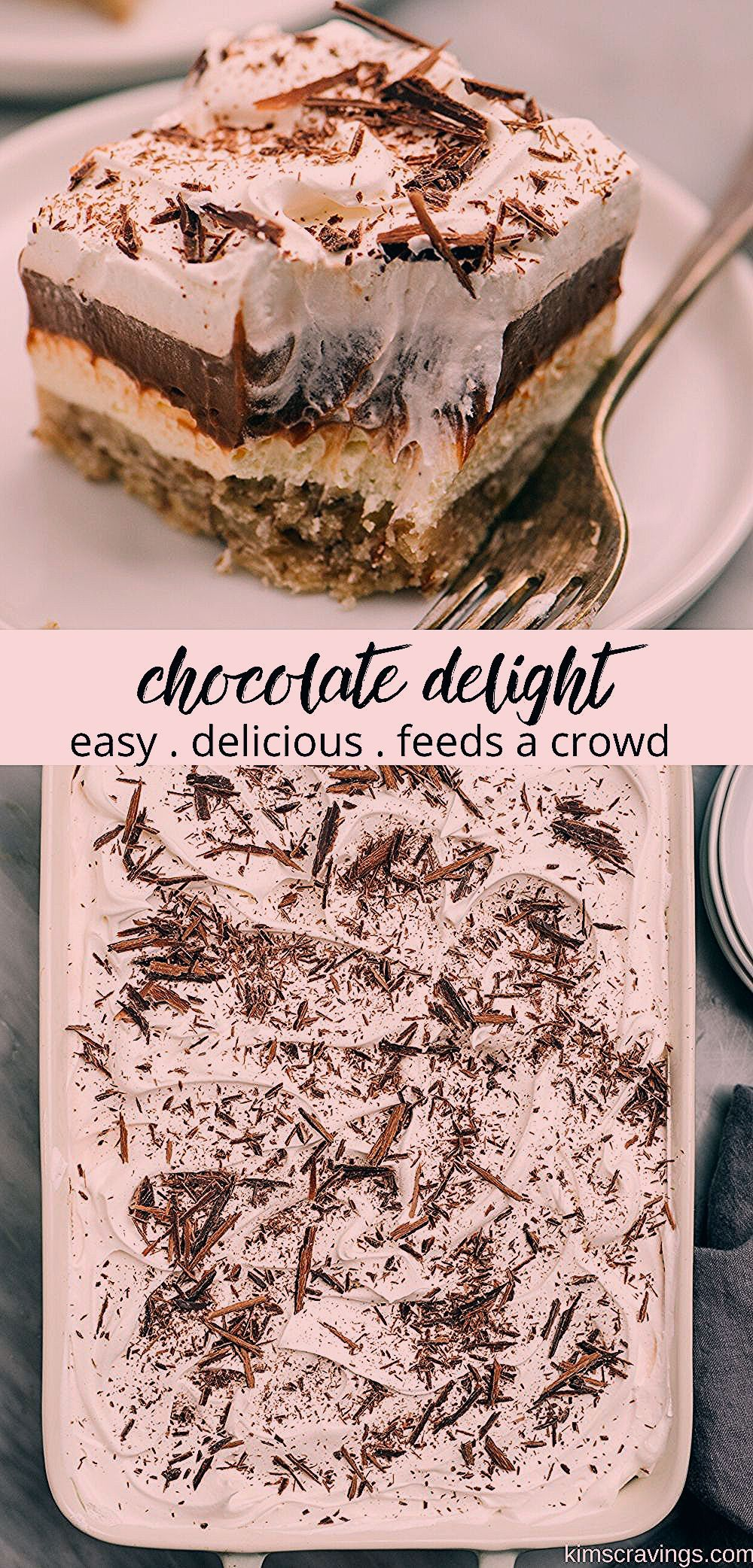 Photo of Chocolate Delight is a delicious layered pudding dessert.