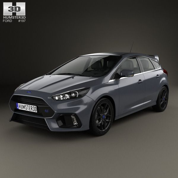 Ford Focus hatchback RS 2014 3d model from humster3d.com. Price: $75