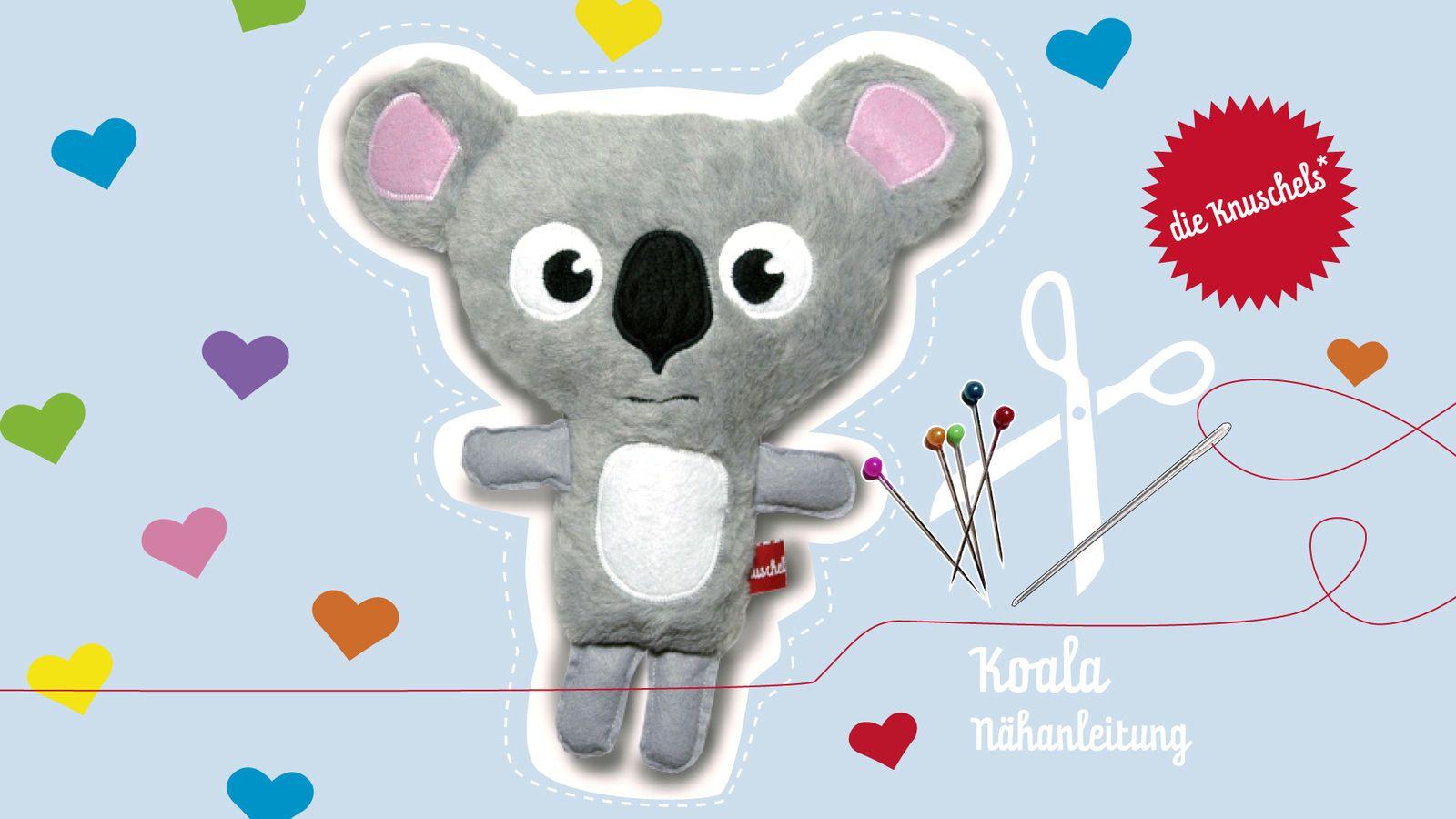 Koala Nähanleitung und Schnittmuster | Makerist, Stofftiere und ...