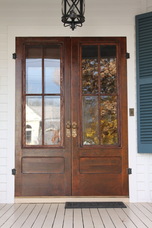 Refinishing The Cherry Storm Doors Installing French Doors French Doors Interior French Doors