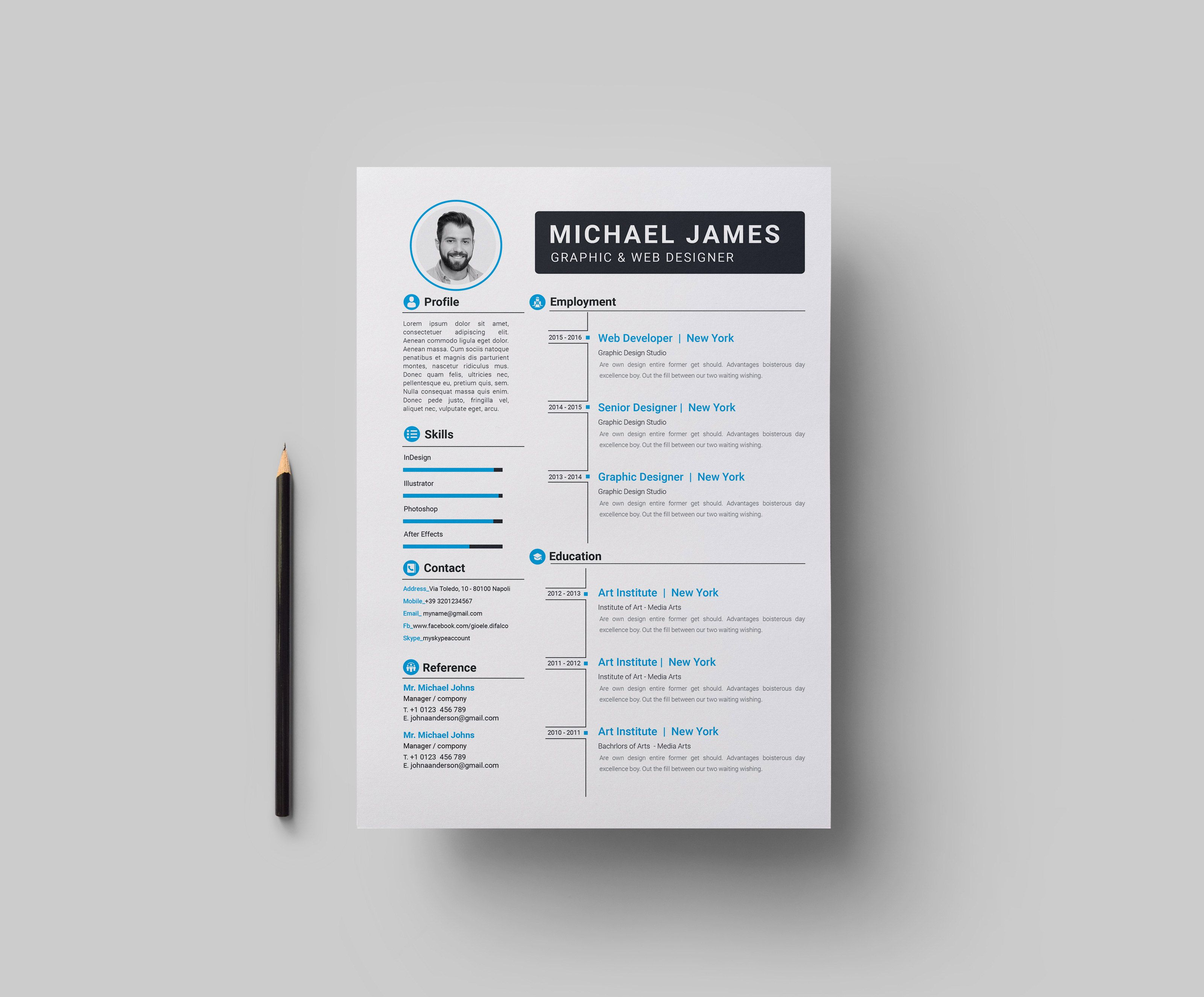 Download 35 Free Creative Resume Cv Templates Visual Resume Resume Design Template Downloadable Resume Template