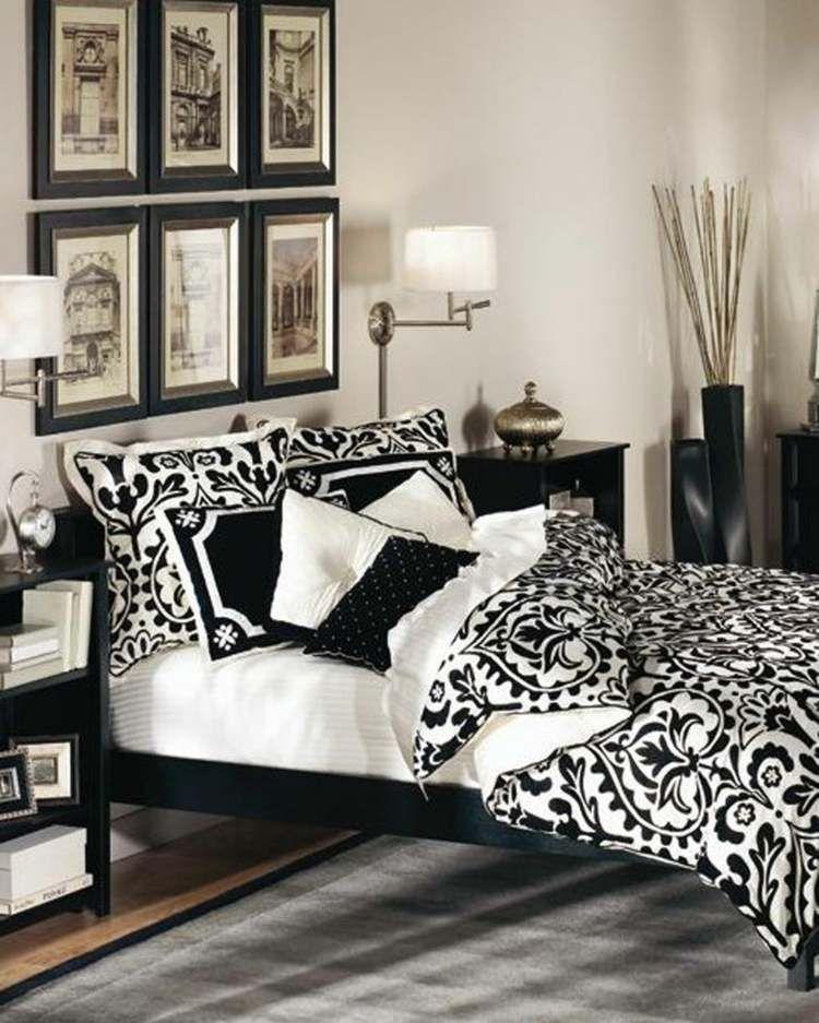 Déco noir et blanc chambre à coucher 25 exemples élégants My