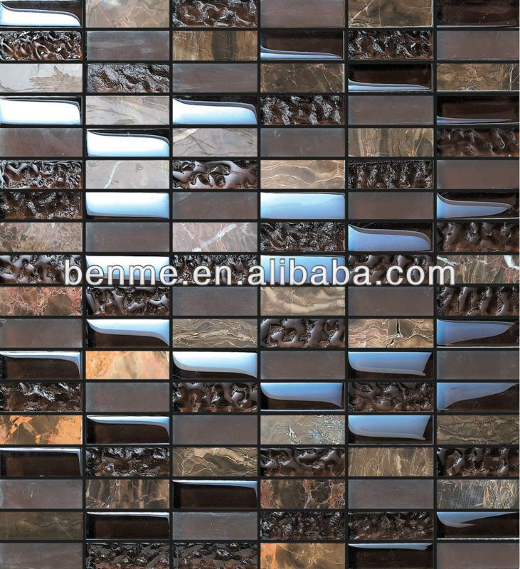 Dark color background crystal mix wall tile mosaic swimming pool ...