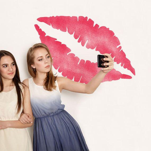 Reuseable Lipstick Kiss Stencil CraftStar Lip Print Stencil