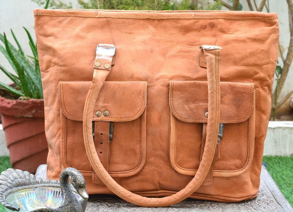 aa5fecc99d0f93 Indian Handmade Real Brown Genuine Leather Bags Messenger Crossbody Satchel  #fashion #clothing #shoes