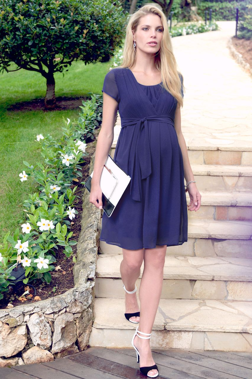 Jodie Umstands- und Still-Kleid navy | Maternity occasion wear and ...