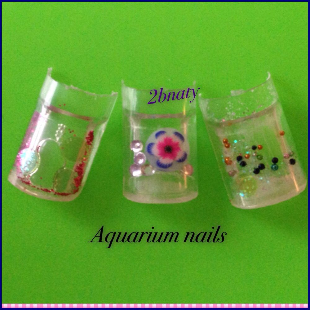 Aquarium Nails | uñas perforadas y en churro | Pinterest | Churros