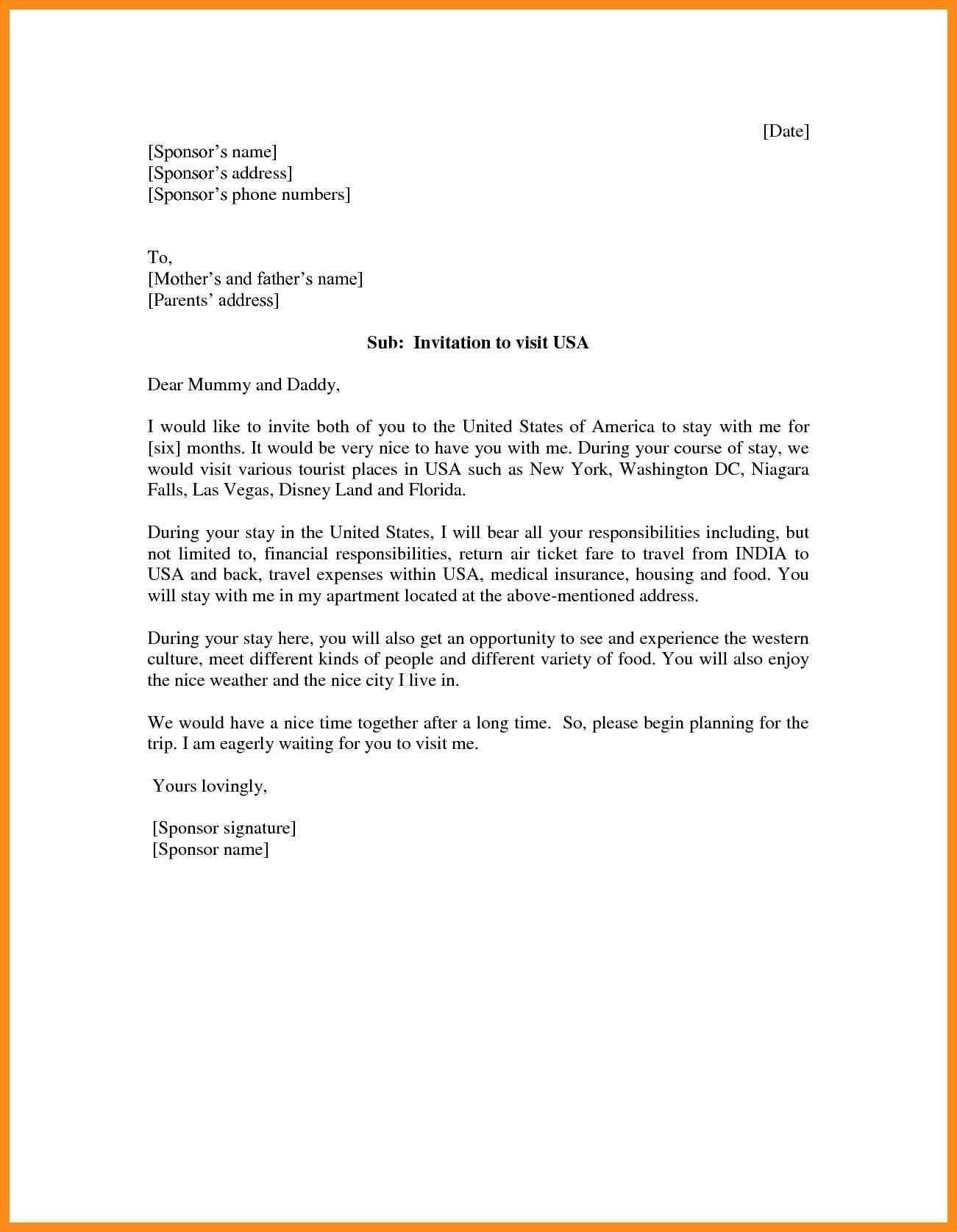 Sample Letter To Invite Someone To Visit Usa from i.pinimg.com