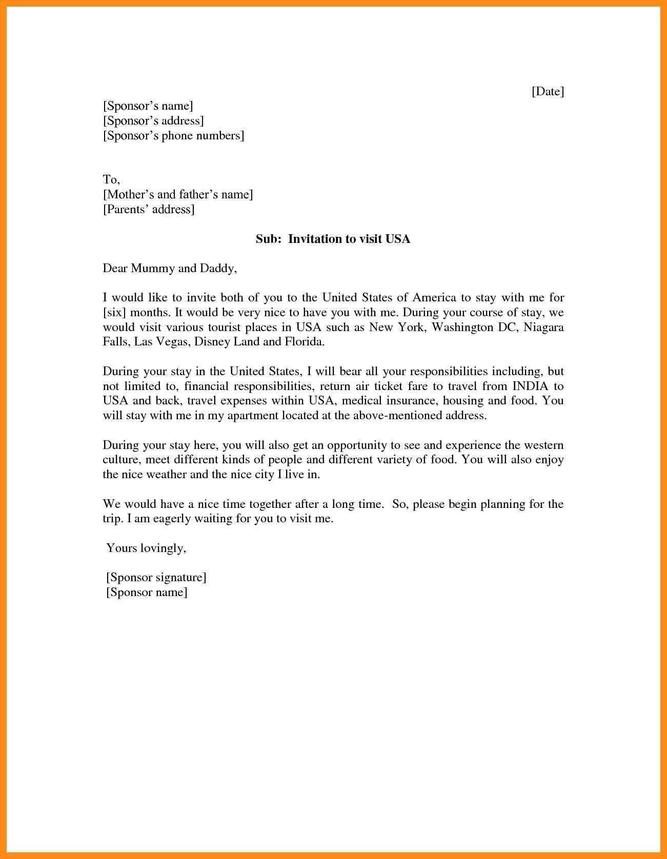 30+] Letter Of Invitation For Nigerian Visa Sample