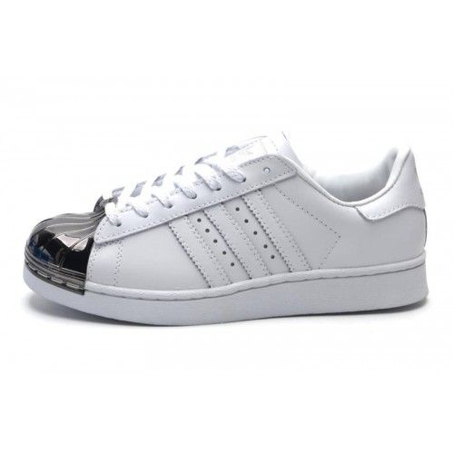 adidas superstar plata y blanco