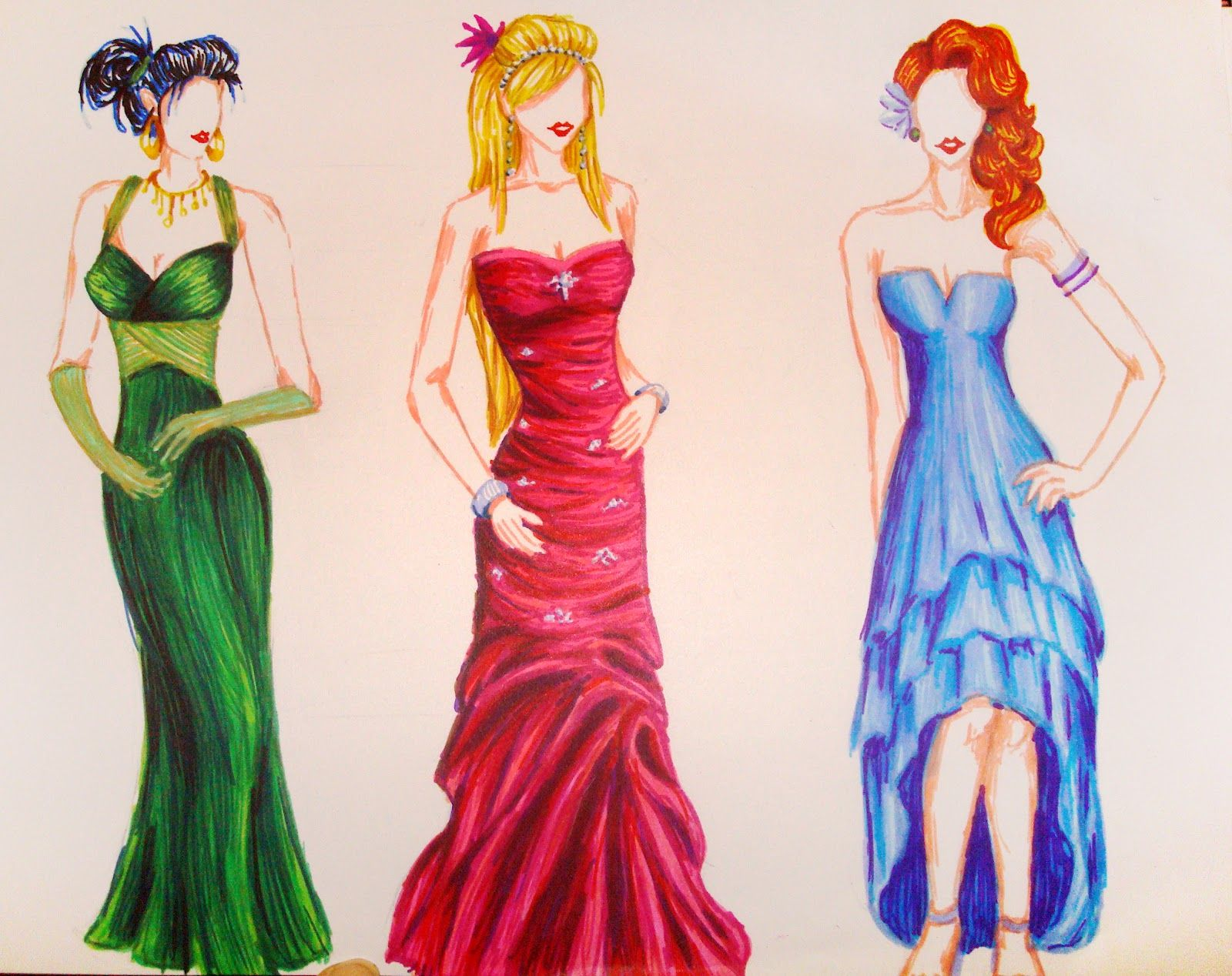 How to Draw Dresses,Fashion | Gallery for How-to-draw-a-prom-dress ...