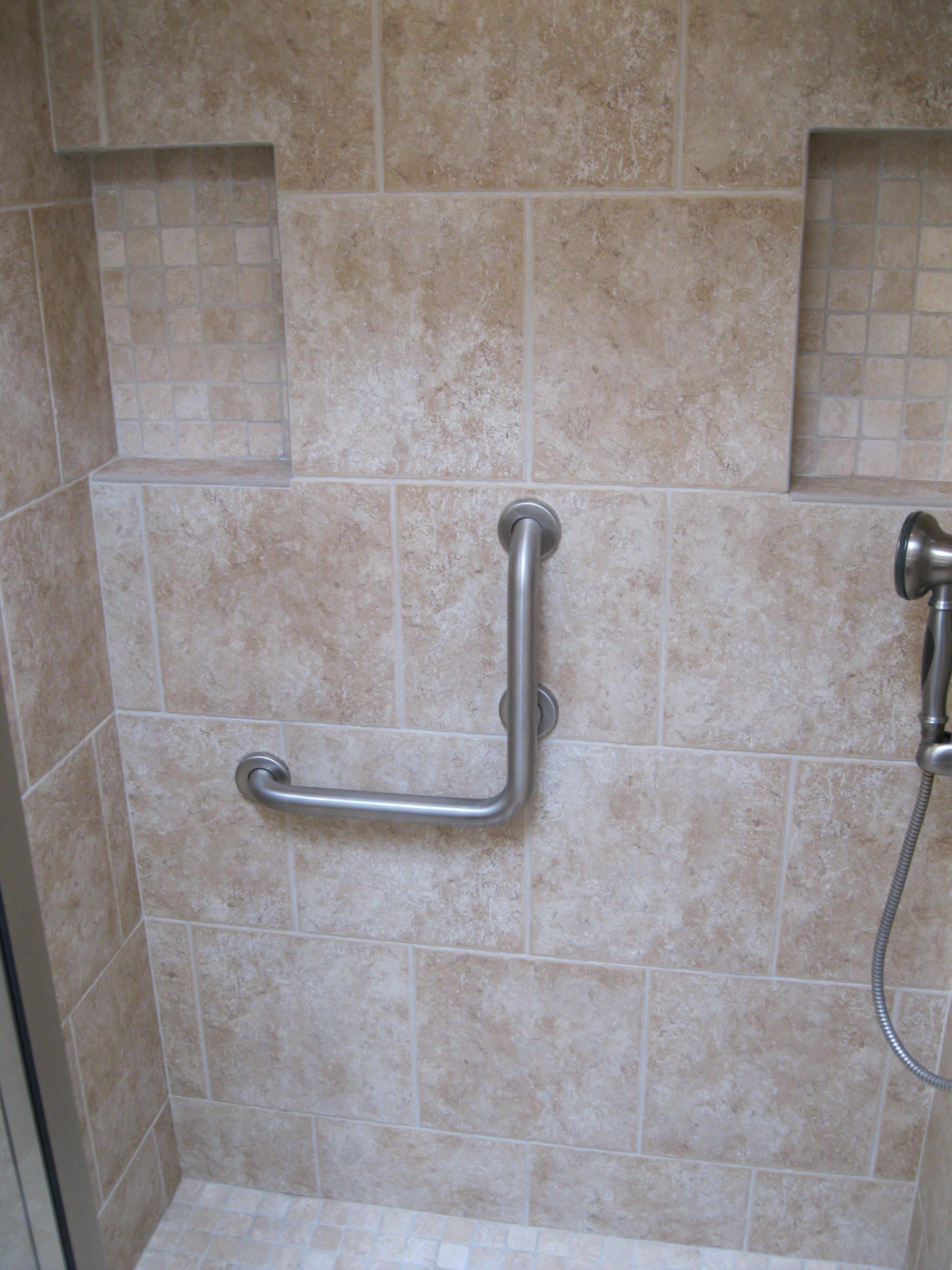 Wheelchair Showers  Grab Bars Specialized Bath Safety Products Impressive Bathroom Safety Bars Decorating Design