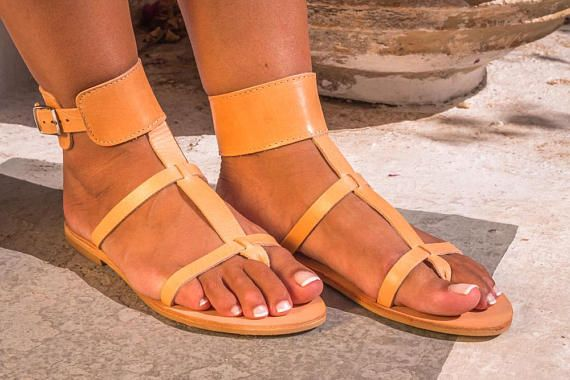 Leather sandals Greek sandals Woman sandals Greek Leather