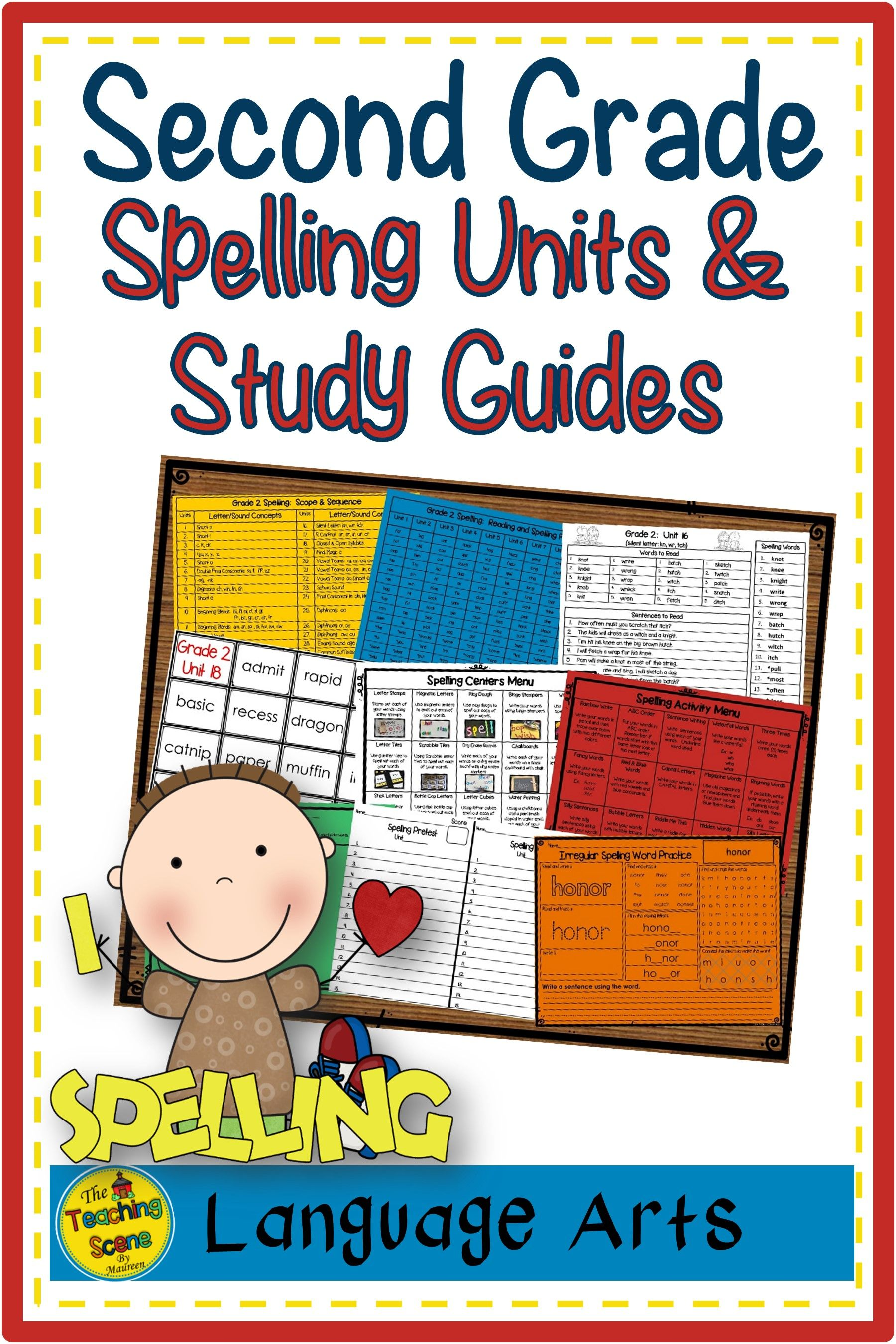Second Grade Year Long Spelling Curriculum Units Study
