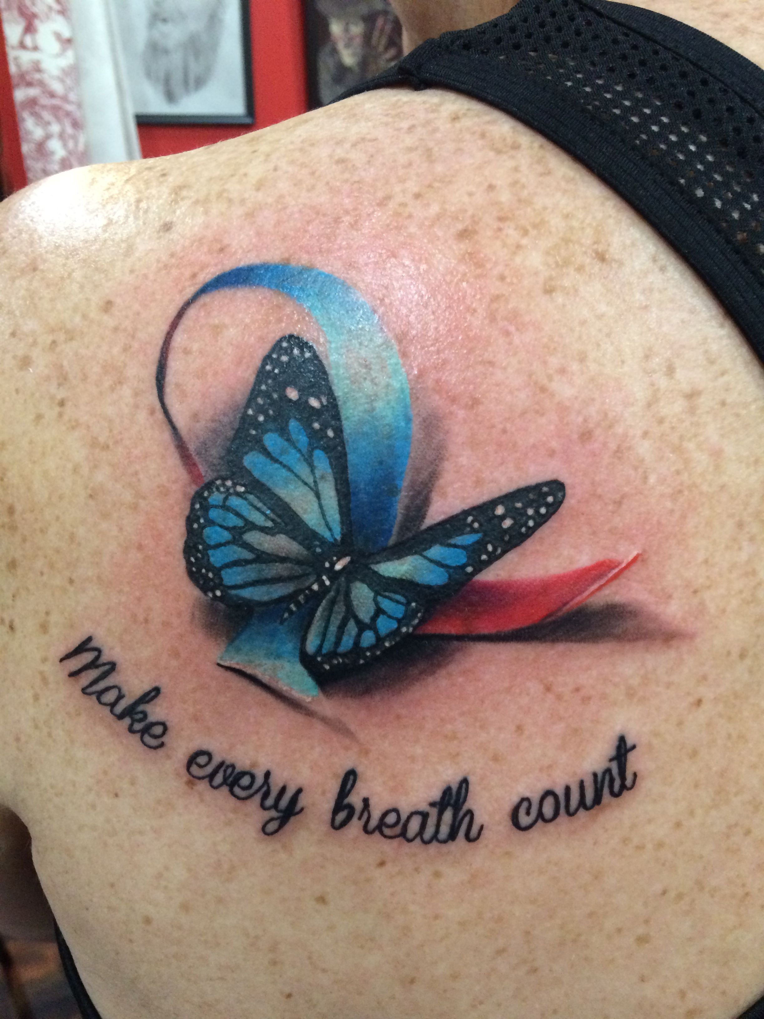 D butterfly tattoo in memory of my dad pulmonaryfibrosis