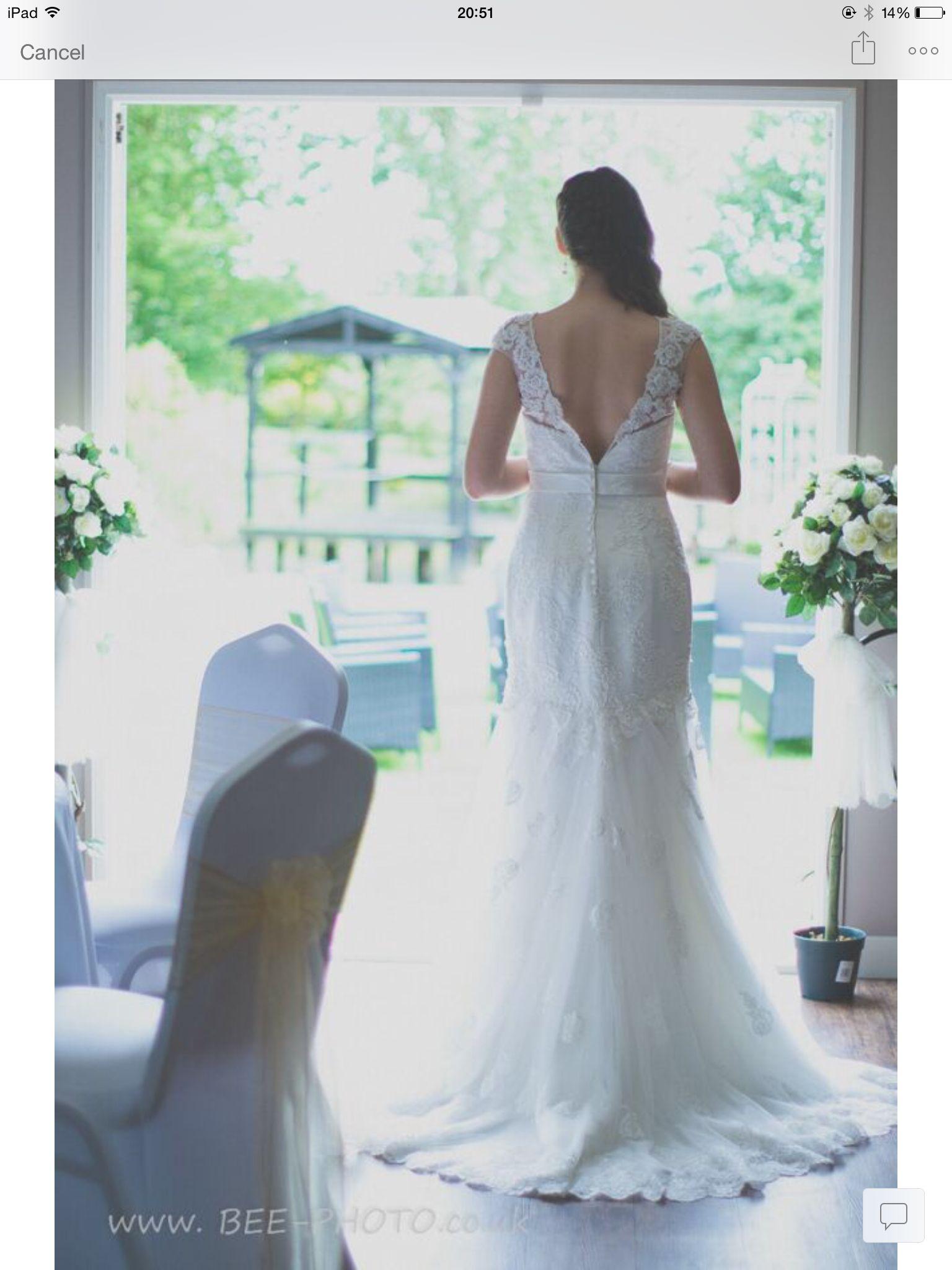 Dress wedding gown back bride bridal hair | Swavesey windmill ...