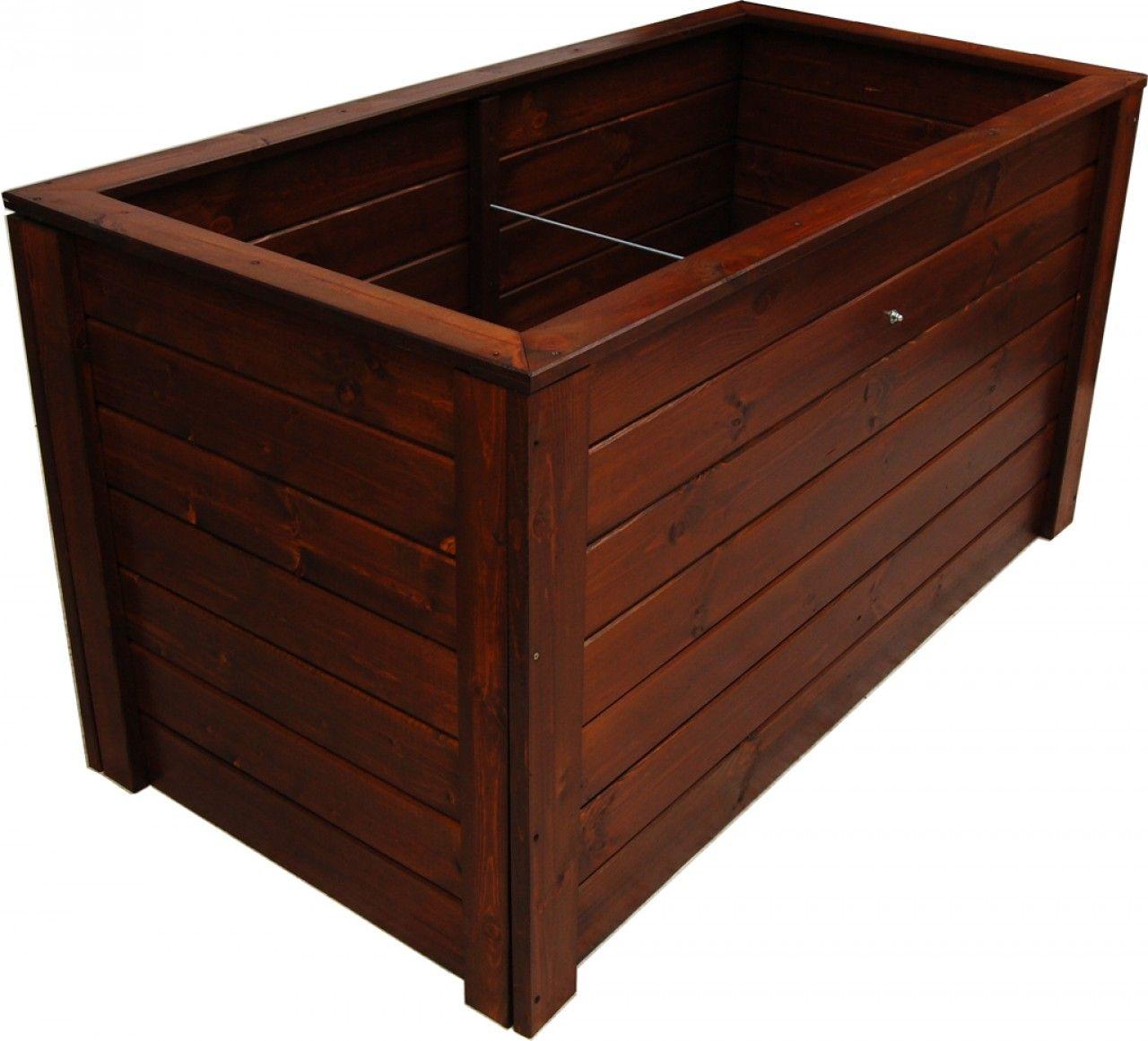 Donica Drewniana 1500x790 Mm Lakier Braz Outdoor Storage Box Outdoor Storage Outdoor Decor