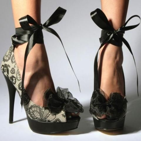 Just got my new heels from Iron Fist! I love the ribbon!!!!  -Giselle