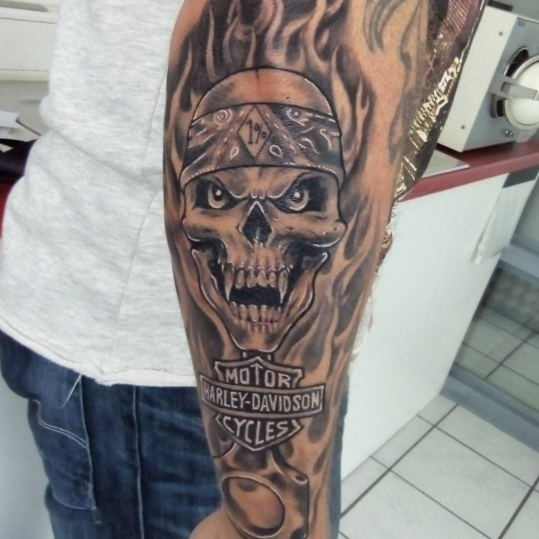 5a815720f Harley Davidson Tattoo | Bikes | Harley davidson tattoos, Flame ...