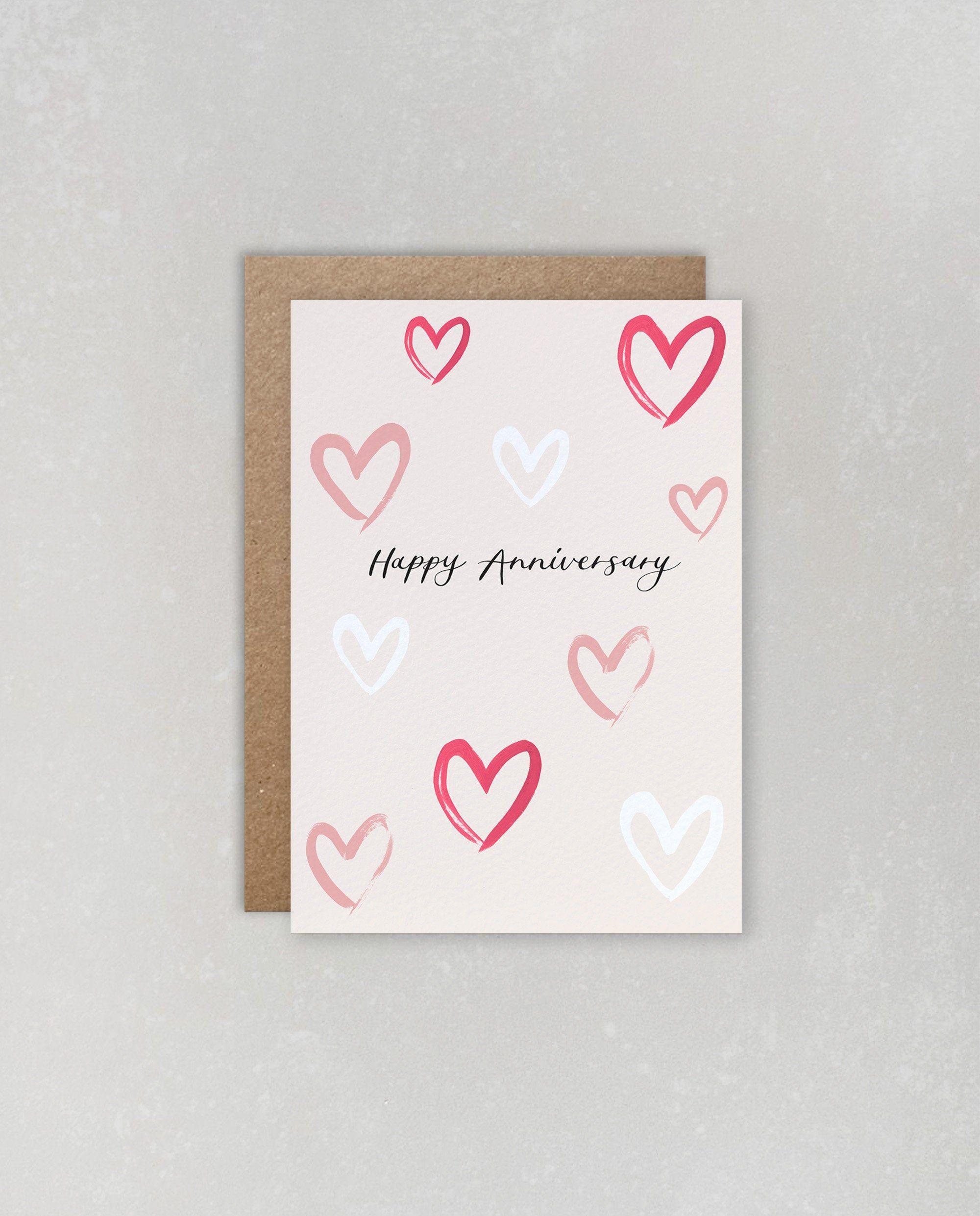 Happy Anniversary Card Heart Card Wedding Anniversary Etsy Happy Anniversary Cards Wedding Anniversary Cards Anniversary Cards