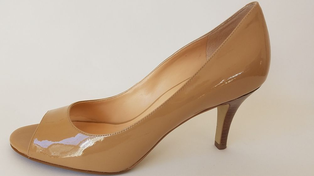 e998fbc8d7b Cole Haan Shoes NikeAir Tan Nude Patent Leather Peep Toe 3 Heels Pumps 8B   fashion  clothing  shoes  accessories  womensshoes  heels (ebay link)